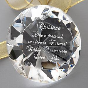 Personalized Diamond Paperweight Gifts for Her