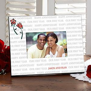 Personalized Anniversary Picture Frames - Our First Year