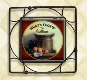 Personalized Ceramic Tile & Wrought Iron Trivet