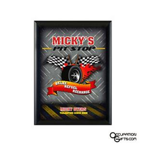 Pit Stop Mini Sign - Personalized
