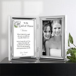 Personalized Wedding Favors - Our Shared Memory Bridesmaid Picture Frame