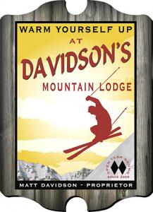 Ski Lodge Sign - Personalized