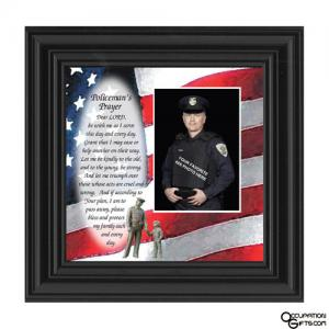 Policeman's Prayer Picture Frame