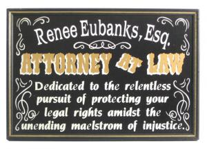 Lawyer Plaque Sign - Personalized