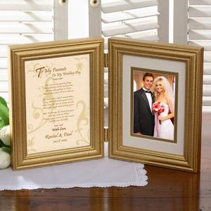 To My Parents Personalized Wedding Day Picture Frame