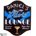 Pilot's Lounge Sign - Personalized