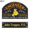 Engineer Small Hanging Sign - Personalized