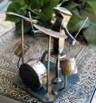 Metal Drummer Sculpture