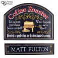Coffee Barista Hanging Sign - Personalized